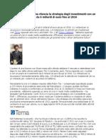 Cattaneo Flavio, Terna strategia investimenti da 6 miliardi di euro fino al 2016