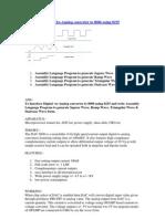 Interfacing Digital-To-Analog Converter to 8086 Using 8255
