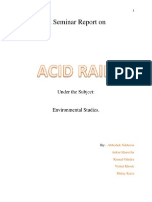 A Seminar Report on ACID RAIN | Air Pollution | Emissions