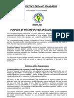 StockFree Organic Standards