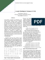 Advancesin Acoustic Modeling for Vietnamese LVCSR