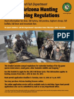 2012-2012 Arizon Hunting and Trapping Regulations