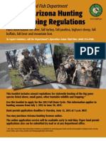 2012-2012 Arizon Hunting and Trapping Regulations