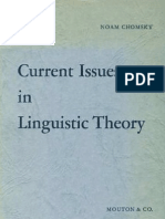Current Issues in Linguistic Theory 5th Printing Janua Linguarum Series Minor 38