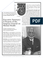 Satcher 2000 - Executive Summary - A Report of the SG on Mental Health