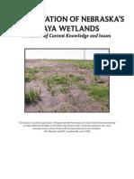 Wetlands Sediment - Sedimentation of Nebraska's Playa Wetlands