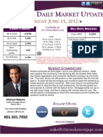 Daily Market Update 6-15-12