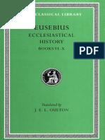 Eusebius Greek English Ecclesiastical History Vol II Books 6-10 1926 Loeb