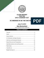 2012-13 Budget Overview June