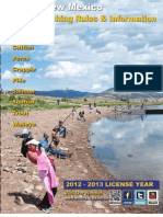 2012-2013 New Mexico Fishing Regulations
