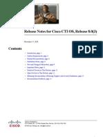 Release Notes for CTIOS 8 0 3