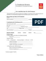 Formulario de Contribuciones de Club Rotaract