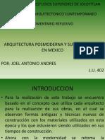 Comentario Reflexivo Pensamiento Arquitectonico