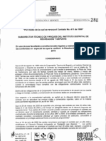 Resolución Distrito Revoca contrato de mandato con Corpotaurina