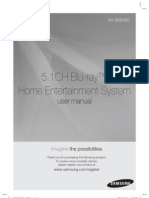 Samsung HT-D5210C Home Theater Manual