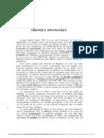 Chronique Diplomatique1963