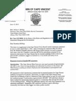 Cape Vincent Supplimental Comments to the Public Service Commission Re:article 10