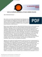 entre la revolución educativa y el nuevo estatuto docente - Jairo Estrada Alvarez