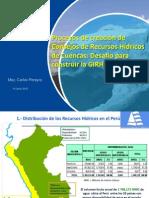 """""""Avances del Plan Hídrico Nacional - Situación de los Consejos de Cuenca y Avances de los Proyectos Pilotos en el Perú""""."""
