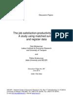 job satisfaction and employees' performance