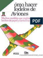 Como hacer modelos de aviones. Ediciones Plesa