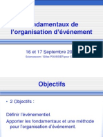 Fondamentaux Organisation Evenement