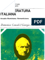 Letteratura Italiana Arcadia Illuminismo Romanticismo