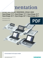 OpenStage T, Administrator Documentation, Issue 3