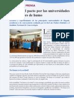 Universidades 100% Libres de humo. Boletín de prensa