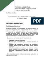 Doenças e Fatores Ambientais - Poluição de Interiores e Exteriores - Eletropoluição - Medicina Preventiva