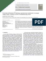 1 Assessing Performanceofutilizingorganizationalmodularitytomanage