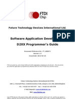 D2XX Programmer's Guide(FT 000071) 3