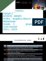 Caracteristicas de Acidos y Bases