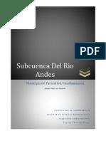 Análisis Morfométrico para la Subcuenca del Rio Andes (Facatativá - Cundinamarca)