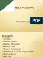 Postpartum Hemorrhage (PPH)