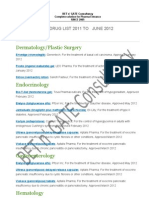 FDA Approved List 2012 Final
