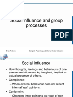 Ch 25 Social Influence and Group Processes