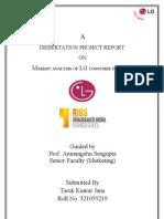 Tarak Kumar Jana - Lg Marketing Project
