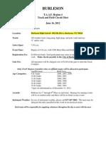 Burleson TAAF Regional Circuit Meet 2012