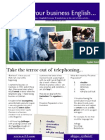 Take the Terror Out of Telephoning