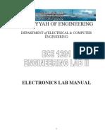 ECE102 Electronic Lab II Manual IIU Malaysia