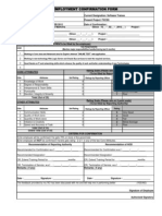 Copy of Employment Confirmation Form
