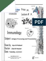 Immuno - Lec 8