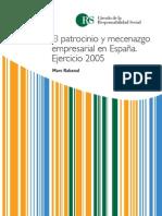 El patrocinio y mecenazgo en España. Ejercicio 2005