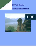 Old Path Sngha-Meditation Practice Handbook