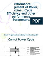 performance management of boiler, turbine , cycle#l4