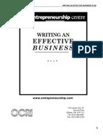 Business Plan - Writing an Effective
