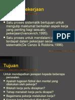 Analisis Pekerjaan