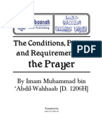 The Conditions, Pillars and Requirements of the Prayer By Imam Muhammad bin  ÂAbdil-Wahhaab [D. 1206H]