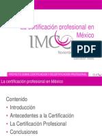 La certificación profesional en   México salvador Malo